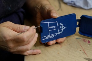 Fabrication housse Tentation Tropézienne Blu_Mediterran